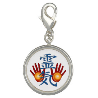 REIKI Hands Symbol + your background Charm