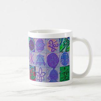 Reiki Healing Signs 12 Havenly blue Classic White Coffee Mug