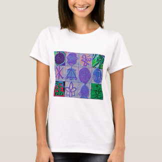 Reiki Healing Signs 12 Havenly blue T-Shirt