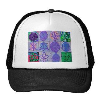 Reiki Healing Signs 12 Havenly blue Trucker Hat