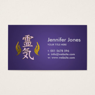 Reiki Healing Symbols Business Card