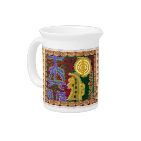 Reiki Healing Symbols by Navin Joshi Artist Canada Beverage Pitchers