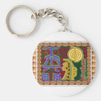 Reiki Healing Symbols by Navin Joshi Artist Canada Keychain