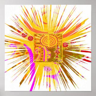 REIKI Healing Symbols Poster