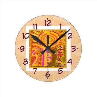 REIKI Healing Symbols Round Clock