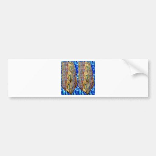 REIKI Healing Tie Pattern Sparkle PURE symbols FUN Bumper Stickers