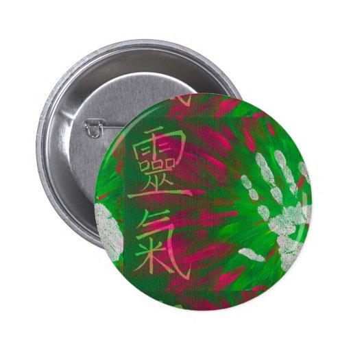 Reiki - Healings Hand Pinback Buttons