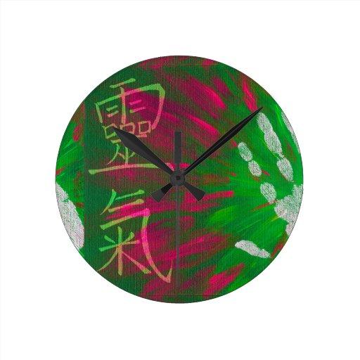 Reiki - Healings Hand Wall Clock