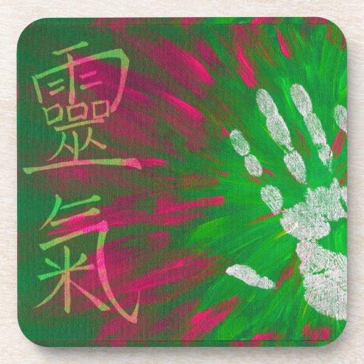 Reiki - Healings Hand Beverage Coaster