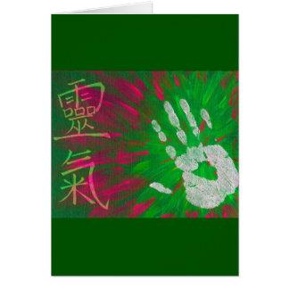 Reiki - Healings Hand Greeting Card