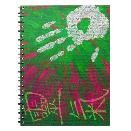 Reiki - Healings Hand Spiral Note Book