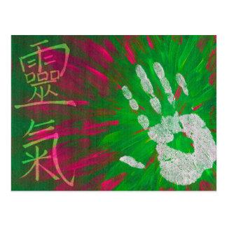 Reiki - Healings Hand Postcard