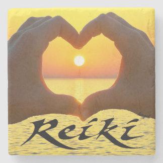 Reiki, heart,Hands, Sun, Healing Energy , Coasters