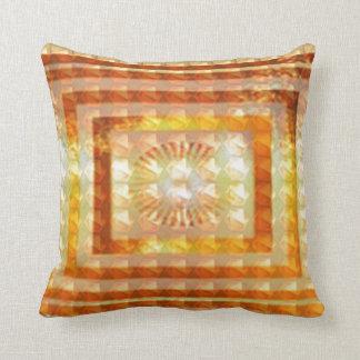 REIKI Karuna Healing Symbols Lotus Golden Chakra Throw Pillow