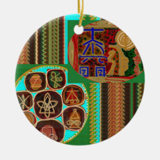 REIKI Karuna Healing Symbols Vintage CARE GIFTS 99 Round Ceramic Ornament