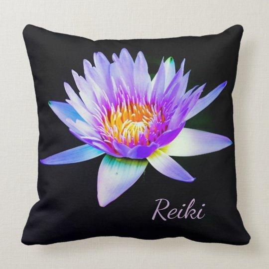 Reiki Lotus Flower Throw Pillow