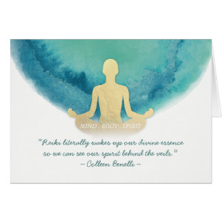 Reiki Master and Yoga Mediation Instructor Quotes Card