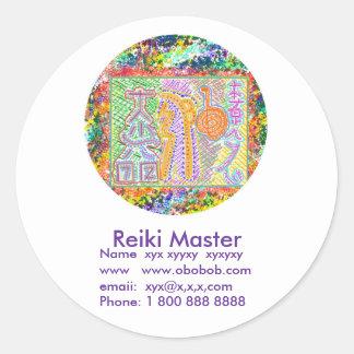 Reiki Master Sales Promotion Classic Round Sticker