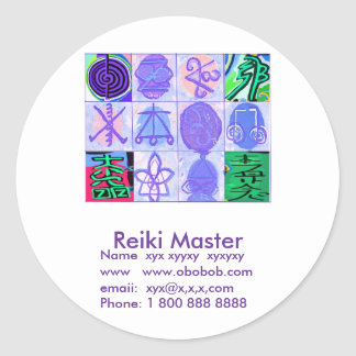 Reiki Master Sales Promotion Round Stickers