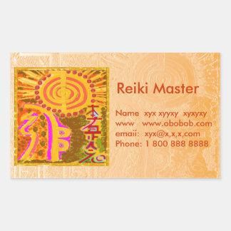Reiki Master Sales Promotion Rectangle Stickers