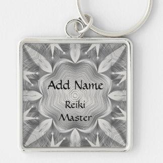 Reiki Master Silver-Colored Square Keychain