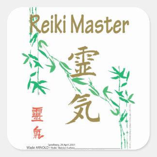Reiki Master Square Sticker