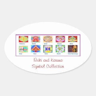 Reiki Master Tools - Symbols n Giveaways Oval Stickers