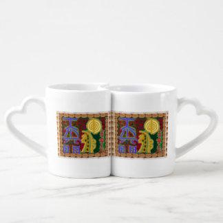 Reiki Masters Healing Symbols Tools Decorative fun Couples Mug