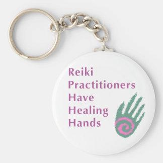 Reiki Practitioners Have Healing Hands Basic Round Button Keychain