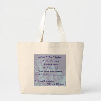Reiki Principles Large Tote Bag