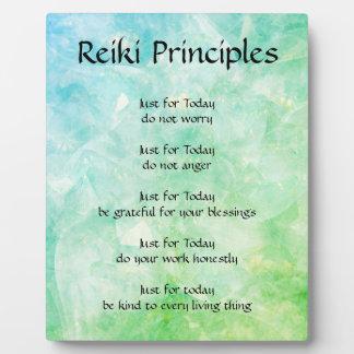Reiki Principles Plaque
