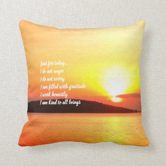 Reiki Principles Sunrise Pillow