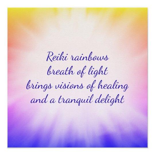 Reiki rainbows poster