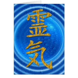 REIKI Symbol + energy of water Card