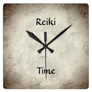 Reiki time square wall clock