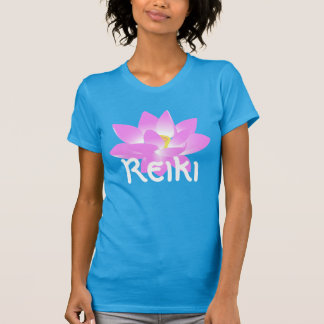 """Reiki"" with a pink lotus blossom T-Shirt"