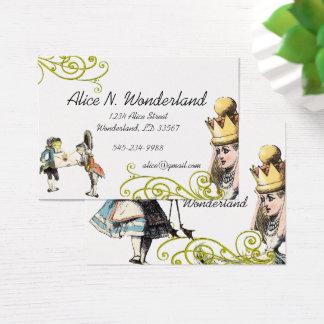 Reilaboration of Vintage Illustration Girl Frog Business Card