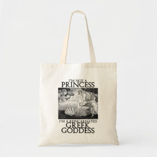 Reincarnated Greek Goddess Tote Bag