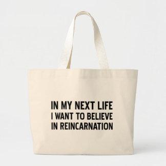 Reincarnation Large Tote Bag