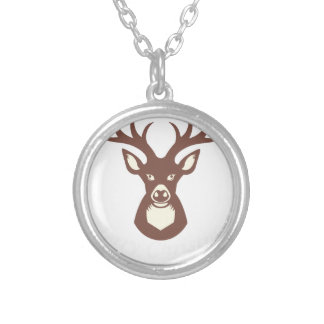 reindeer 13 silver plated necklace