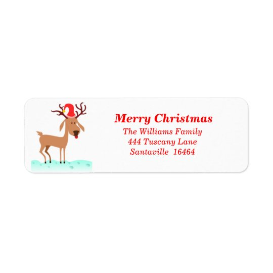 Reindeer Address Label