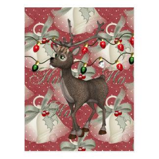 Reindeer and Christmas Bells Postcard