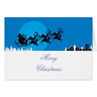 Reindeer and Father Christmas Greetings Card
