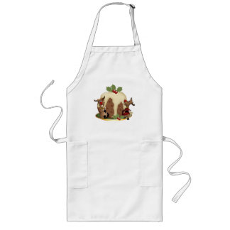 Reindeer And Pudding Christmas Apron