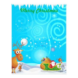 Reindeer and Santa Stationery Letterhead Design