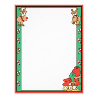Reindeer and Santa's Sleigh Letterhead