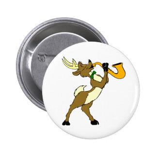 Reindeer And Saxophone Pins