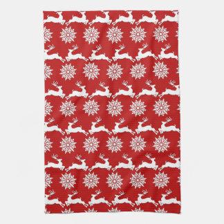 Reindeer and Snowflake Christmas Kitchen Towel