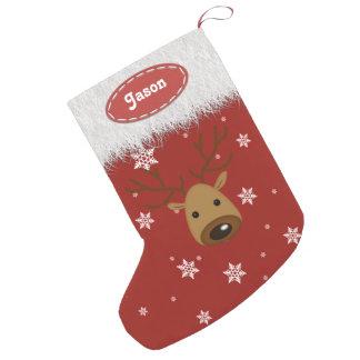 Reindeer and Snowflakes - Christmas Stockings Small Christmas Stocking