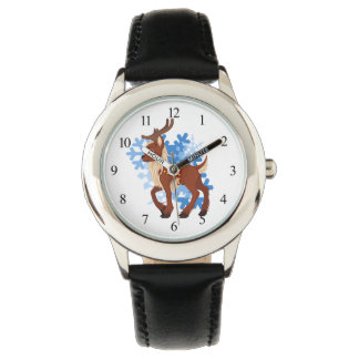 Reindeer and Snowflakes Wrist Watches